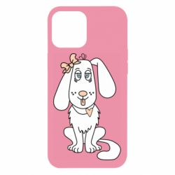 Чехол для iPhone 12 Pro Max Dog with a bow