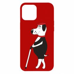 Чехол для iPhone 12 Pro Max Dog with a cane