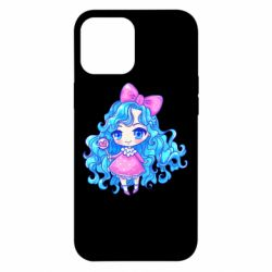 Чохол для iPhone 12 Pro Max Doll with blue hair