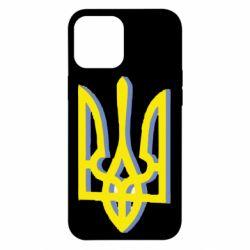 Чехол для iPhone 12 Pro Max Двокольоровий герб України