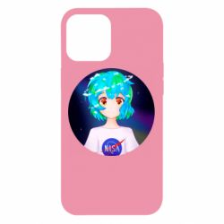 Чохол для iPhone 12 Pro Max Earth-chan in a T-shirt with a Nasa logo