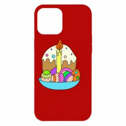 Чехол для iPhone 12 Pro Max Easter cake and eggs