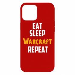 Чехол для iPhone 12 Pro Max Eat sleep Warcraft repeat