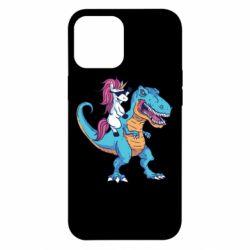 Чохол для iPhone 12 Pro Max Єдиноріг і динозавр