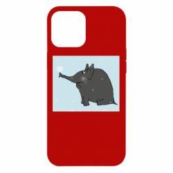 Чохол для iPhone 12 Pro Max Elephant and snowflakes