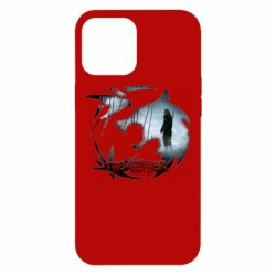 Чехол для iPhone 12 Pro Max Emblem wolf and text The Witcher