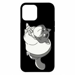 Чехол для iPhone 12 Pro Max Fat cat in a jacket