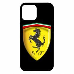 Чехол для iPhone 12 Pro Max Ferrari 3D Logo