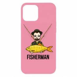 Чохол для iPhone 12 Pro Max Fisherman and fish