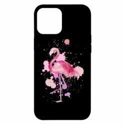 Чехол для iPhone 12 Pro Max Flamingo pink and spray