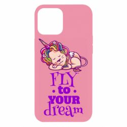 Чохол для iPhone 12 Pro Max Fly to your dream and lion