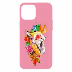 Чехол для iPhone 12 Pro Max Fox in autumn leaves