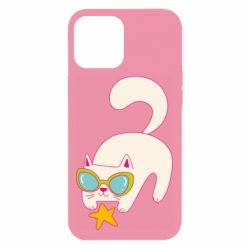 Чехол для iPhone 12 Pro Max Funny cat with star