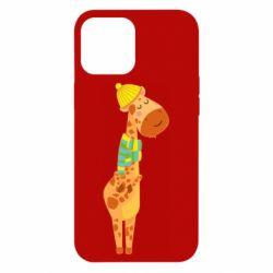 Чехол для iPhone 12 Pro Max Giraffe in a scarf