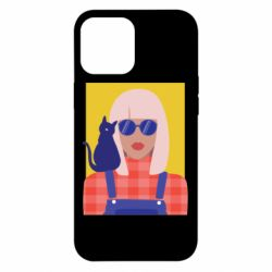 Чохол для iPhone 12 Pro Max Girl and cat
