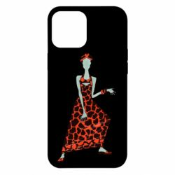 Чехол для iPhone 12 Pro Max Girl in a dress without a face
