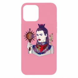 Чехол для iPhone 12 Pro Max Girl with a crown and a flower on a beard