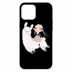 Чохол для iPhone 12 Pro Max Girl with a lama