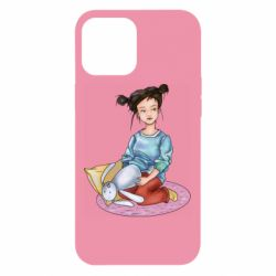 Чохол для iPhone 12 Pro Max Girl with a plush hare