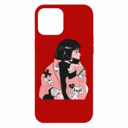 Чехол для iPhone 12 Pro Max Girl with a square
