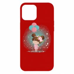 Чехол для iPhone 12 Pro Max Girl with balloons