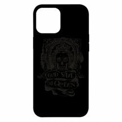 Чехол для iPhone 12 Pro Max God save the queen monochrome