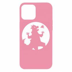 Чехол для iPhone 12 Pro Max Godzilla and moon