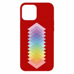 Чохол для iPhone 12 Pro Max Gradient color transition rhombus