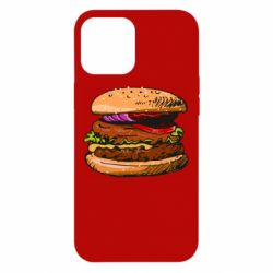 Чехол для iPhone 12 Pro Max Hamburger hand drawn vector