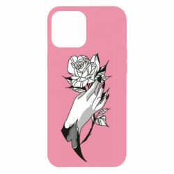 Чехол для iPhone 12 Pro Max Hand and rose