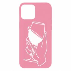 Чохол для iPhone 12 Pro Max Hand with a glass of wine