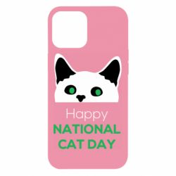 Чехол для iPhone 12 Pro Max Happy National Cat Day