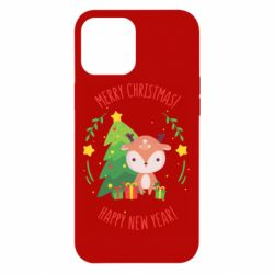 Чехол для iPhone 12 Pro Max Happy new year and deer