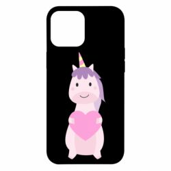Чехол для iPhone 12 Pro Max Happy unicorn with a heart