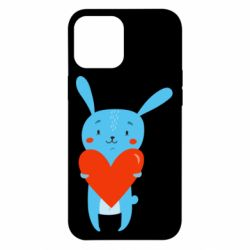 Чехол для iPhone 12 Pro Max Hare with a heart