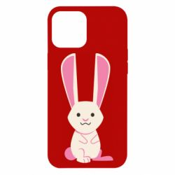 Чехол для iPhone 12 Pro Max Hare with pink ears