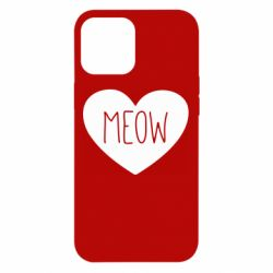 Чехол для iPhone 12 Pro Max Heart and meow