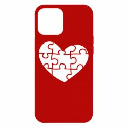 Чехол для iPhone 12 Pro Max Heart and puzzle