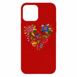 Чехол для iPhone 12 Pro Max Heart made of flowers vector