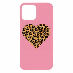 Чехол для iPhone 12 Pro Max Heart with leopard hair
