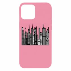 Чехол для iPhone 12 Pro Max High-rise buildings silhouette