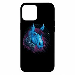 Чехол для iPhone 12 Pro Max Horse and neon color