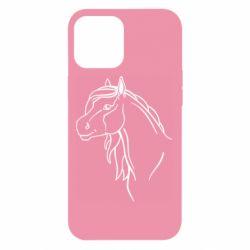 Чехол для iPhone 12 Pro Max Horse contour