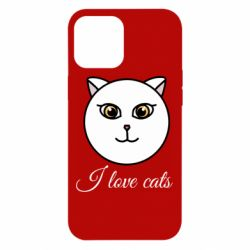 Чохол для iPhone 12 Pro Max I love cats art
