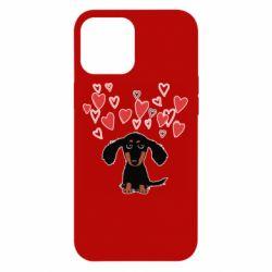 Чохол для iPhone 12 Pro Max I love dachshund