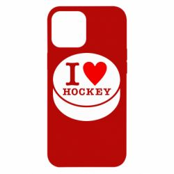 Чохол для iPhone 12 Pro Max I love hockey