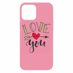 Чохол для iPhone 12 Pro Max I love you and heart