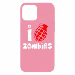 Чехол для iPhone 12 Pro Max I love zombies