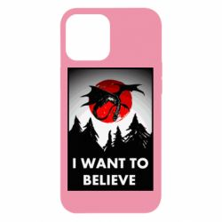 Чехол для iPhone 12 Pro Max I want to BELIEVE poster