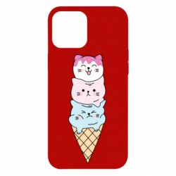 Чехол для iPhone 12 Pro Max Ice cream kittens